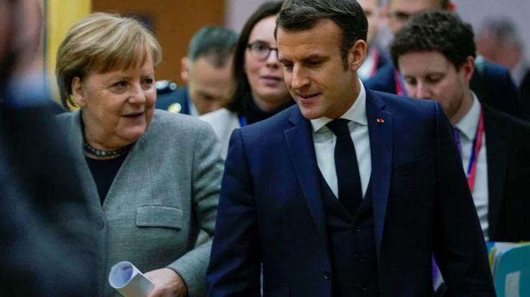 Macron e Merkel reúnem-se hoje