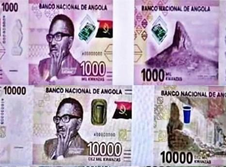 Notas de mil kwanzas já circulam no mercado